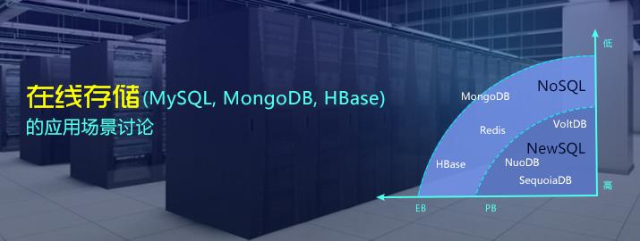 在线存储(MySQL, MongoDB, HBase)的应用场景讨论